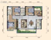 日盛・桂花城4室2厅2卫135平方米户型图