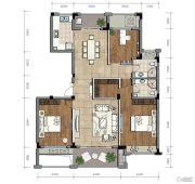 金昌越府3室2厅2卫123平方米户型图