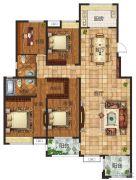 锦江城4室2厅2卫169平方米户型图
