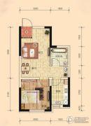 东安瑞凯国际1室2厅1卫47平方米户型图