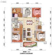 万科翡翠公园4室2厅2卫135平方米户型图