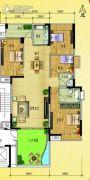 水岸花城4室2厅2卫131--143平方米户型图