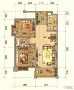 七彩云南第壹城2室2厅1卫97--103平方米户型图