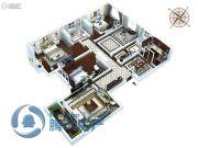 金石里巷5室2厅2卫210平方米户型图