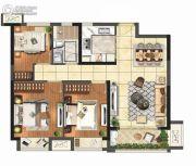 保利悦都3室2厅1卫95平方米户型图