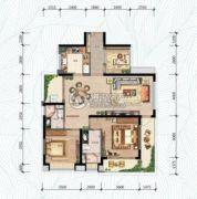 万科・红树东岸3室2厅2卫120--122平方米户型图