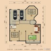 浪琴湾2室2厅1卫188平方米户型图