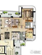 雅居乐新城湾畔3室2厅2卫120平方米户型图