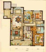 宏地・金玉府4室2厅2卫118平方米户型图