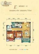 力帆翡翠华府2室2厅1卫65平方米户型图