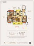 碧桂园翡翠华府4室2厅2卫140平方米户型图