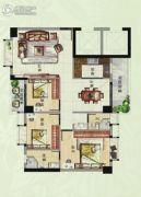 香樟美地3室2厅2卫107平方米户型图
