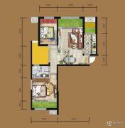 天居锦河丹堤2室2厅1卫99平方米户型图