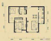 富力津门湖2室2厅0卫99平方米户型图