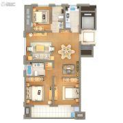 雅戈尔壹号3室2厅2卫122平方米户型图