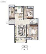 非凡环秀湖花园3室2厅1卫89平方米户型图