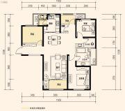 保利天禧3室2厅2卫130平方米户型图